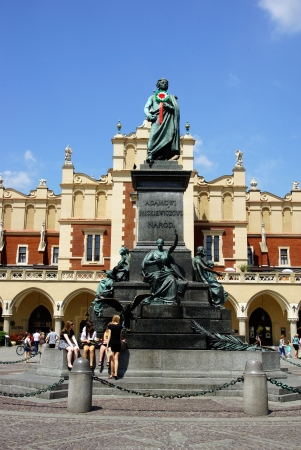 main market: The Main Market Square in Cracow, Old Town, Poland Stock Photo