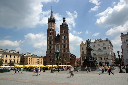 The Main Market Square in Cracow, Old Town, Poland Stock Photo - 18509262