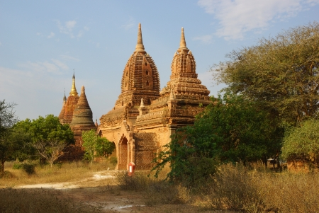 Ancient temples in Bagan, Myanmar photo