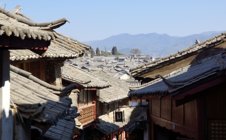 oldtown: Ancient roof in Lijiang old town, Yunnan China