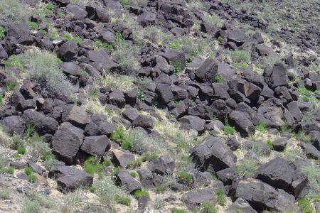 Canyon of Black Volcanic Rock