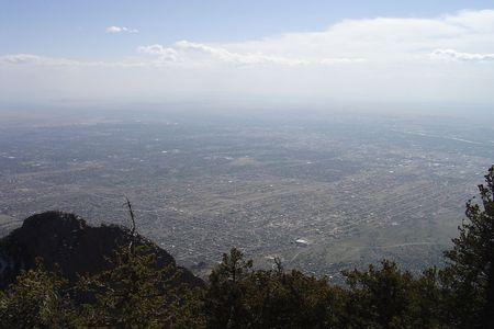 Albuquerque from the mountaintop photo