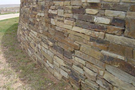 Rock wall in the desert Stok Fotoğraf