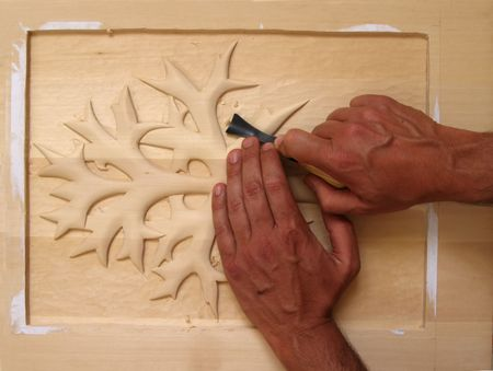 chisel: woodcarving