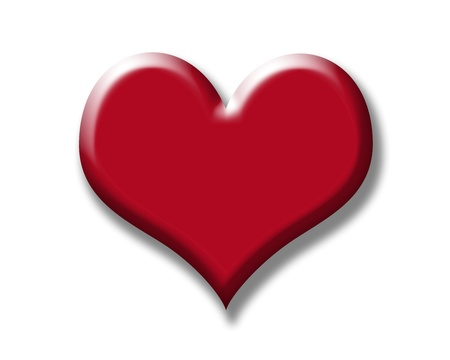 render: Render of red heart on white background.