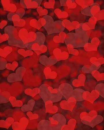 Render of hearts on background
