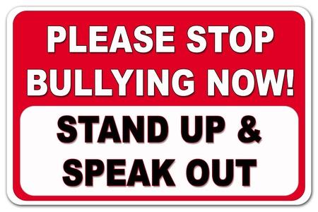 Kérjük, ne megfélemlítés jel piros és fekete, fehér alapon