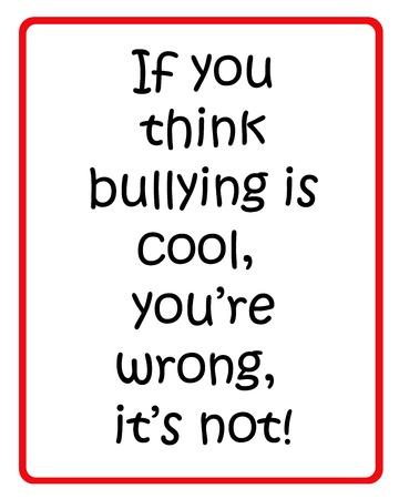 bulling: Cartel rojo y negro para detener el acoso