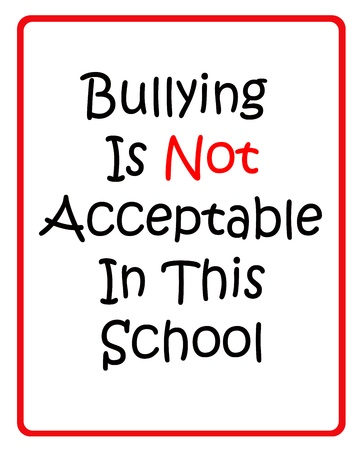 Bullying is not acceptable in this school 免版税图像