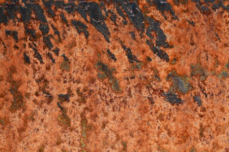 Close up of a old rusted piece of metal photo