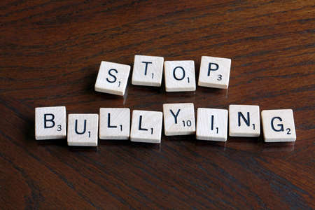 Stop bullying scrabble text photo