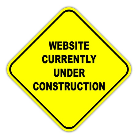Website currently under construction sign photo