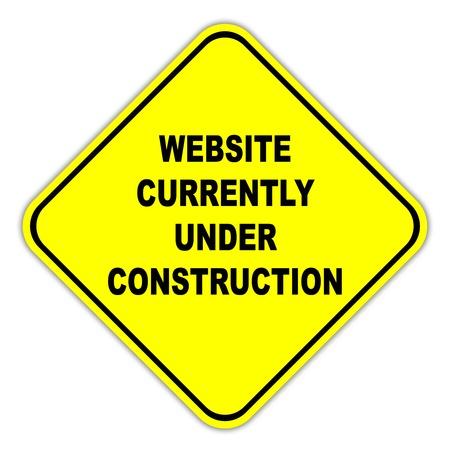Website currently under construction sign