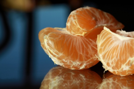 snack: Snack of juicy pieces of clementines