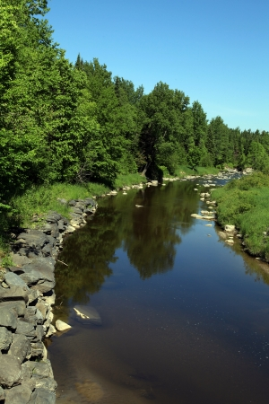 Quiet stream on a hot summer morning  photo