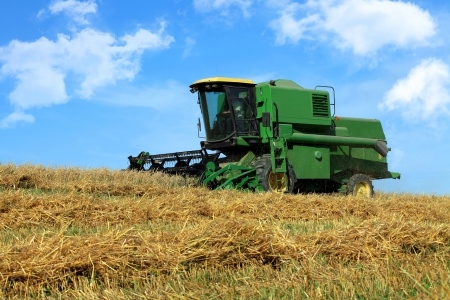 Harvesting on a beautiful september afternoon Stock Photo - 15504135