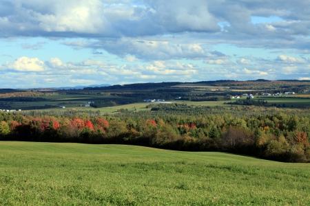 Gyönyörű vidéki táj Stock fotó