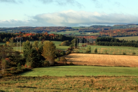Colorful autumn landscape in the countryside Stock Photo - 15447416