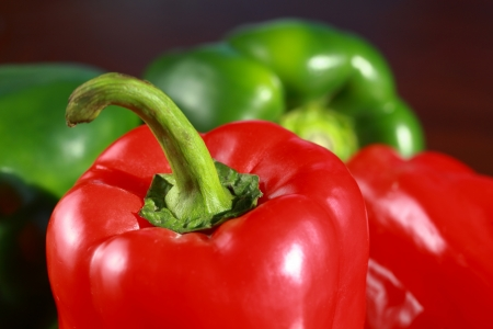 bell peppers: Red and green peppers