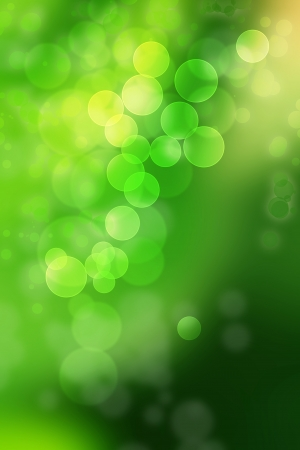 co lour: Beautiful arrangement of circles in different shades of green and yellow Stock Photo