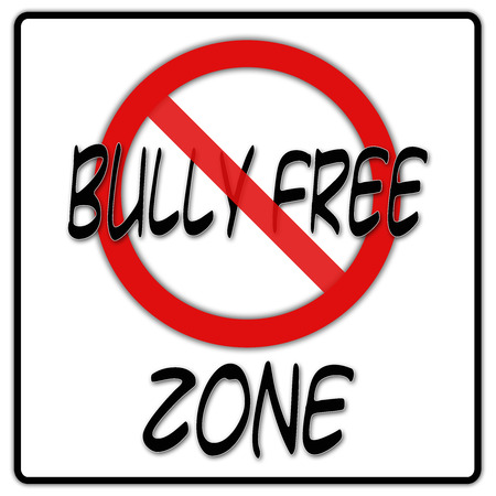Bully free zone sign with black border photo