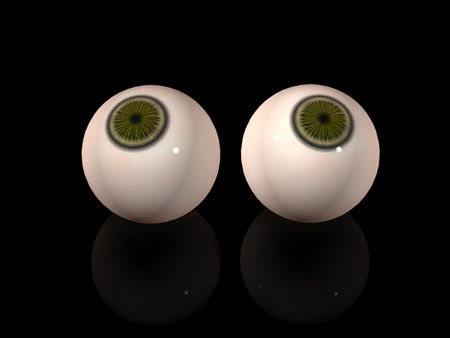 Two eyes over black background Stock Photo - 13205887