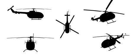 aeronautics: Helicopter isolated over white background