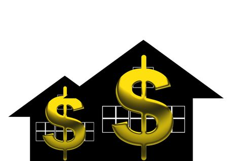 Credit line  HTML Code    Lu Ming   Dreamstime com  Title   Dollar sign  Description   A golden dollar sign over black house background