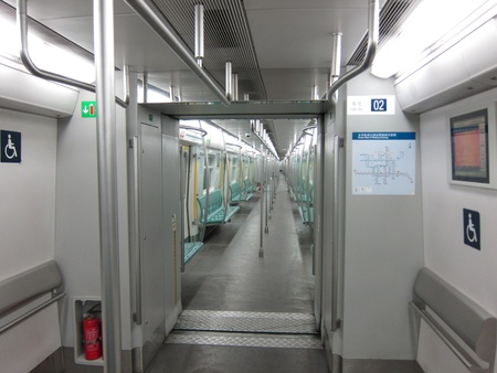 Interior of subway Editorial