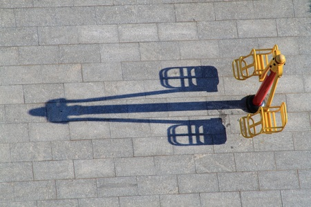 top view of childrens swing