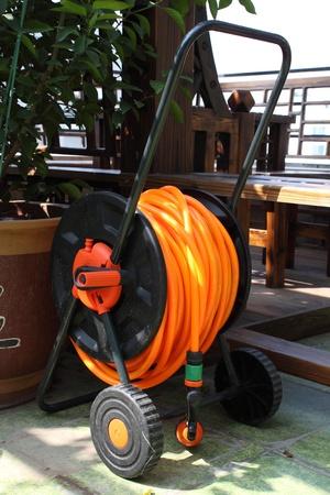 Closeup of fire hose