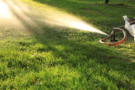 Closeup of spraying water