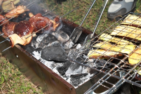 broiling: Barbecue Stock Photo
