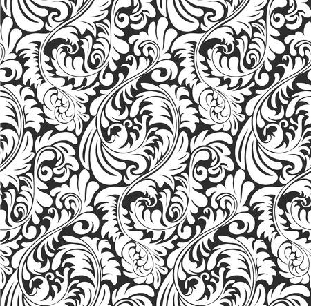 Patrón sin fisuras papel tapiz de fondo Fern. Vegetal ecológica y formas florales, sin azulejos. Ilustración de vector