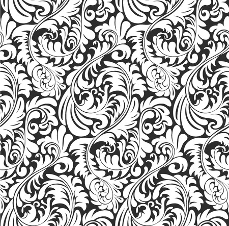 Seamless Fern wallpaper pattern background. Organic plant and floral shapes, tiles seamlessly.