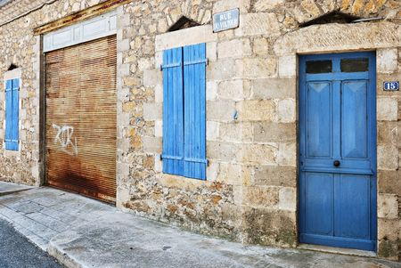 Front housewarehouse in a French village called Vals-les-Bains (ArdècheFrance) Stock Photo