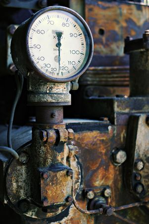 Rusted gauge with its meter on zero surrounded by rust. Stock Photo - 2190892