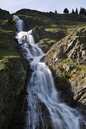 Waterfalls near a little village called Champagny en Vanoise in French Alps