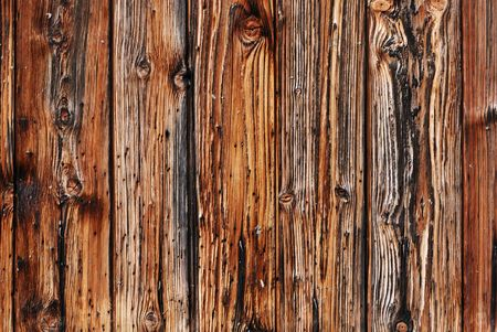 Brown vertical strip of wooden planks - texture backround Stock Photo