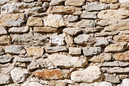 Old stone wall for background and texture