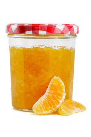Tangerine and Orange jam isolated on white