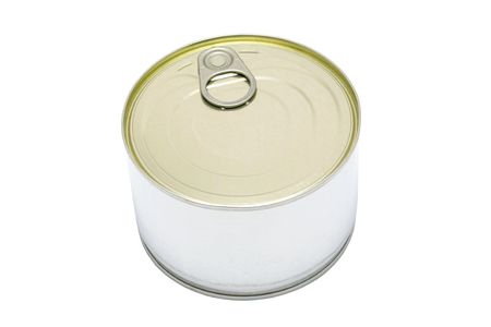 Aluminum tin can isolated on a white background Stock Photo - 4457415