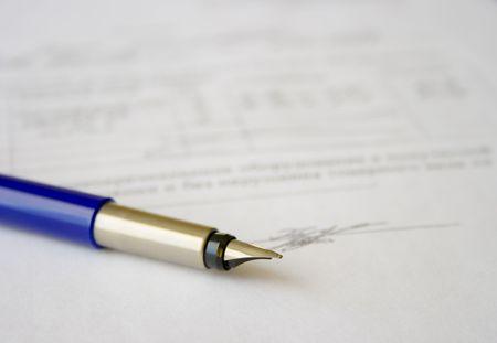 signature of important document photo
