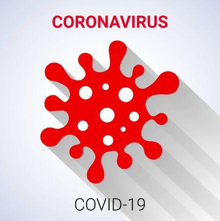 Coronavirus Bacteria Cell Icon, COVID-19. Bacteria. No Infection and Stop Coronavirus Concepts. Isolated Vector Icon. Shadow icon.