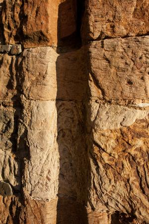 groove: Stone groove Stock Photo