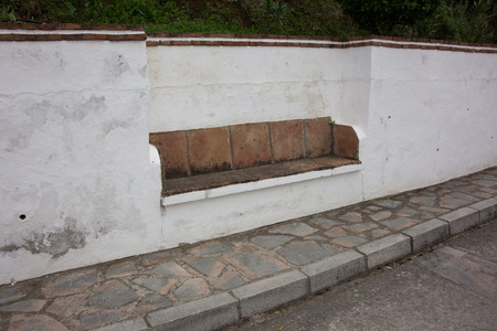 generic location: Stone seat in the wall in Spain