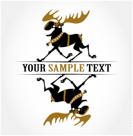 xmas cartoon deer Stock Vector - 8559307