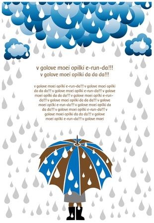 lluvia paraguas: d�a de lluvia
