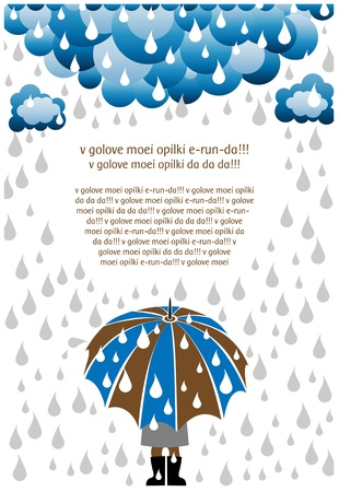 rain cartoon: rain day