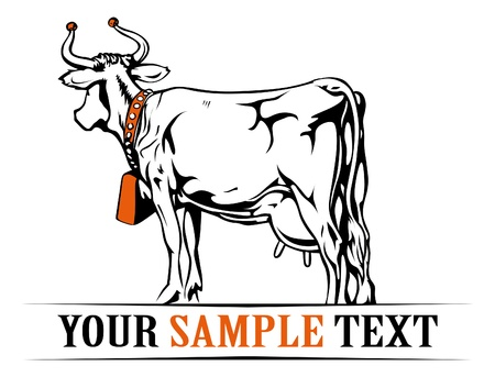 farm cow banner Vector